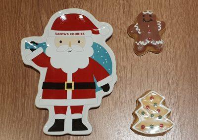 Christmas Eve box plate for santa