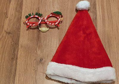 December 1st box plush red Santa hat
