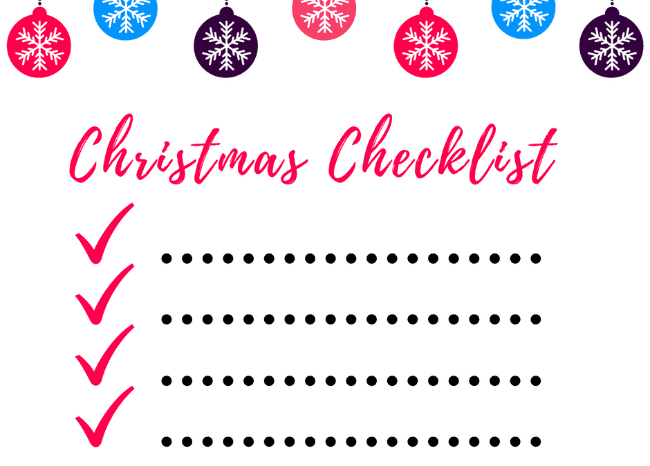 Christmas Checklist 2016